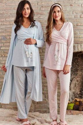 Pierre Cardin  Pijama Pierre Cardin Lohusa 3'lü Pijama Takım