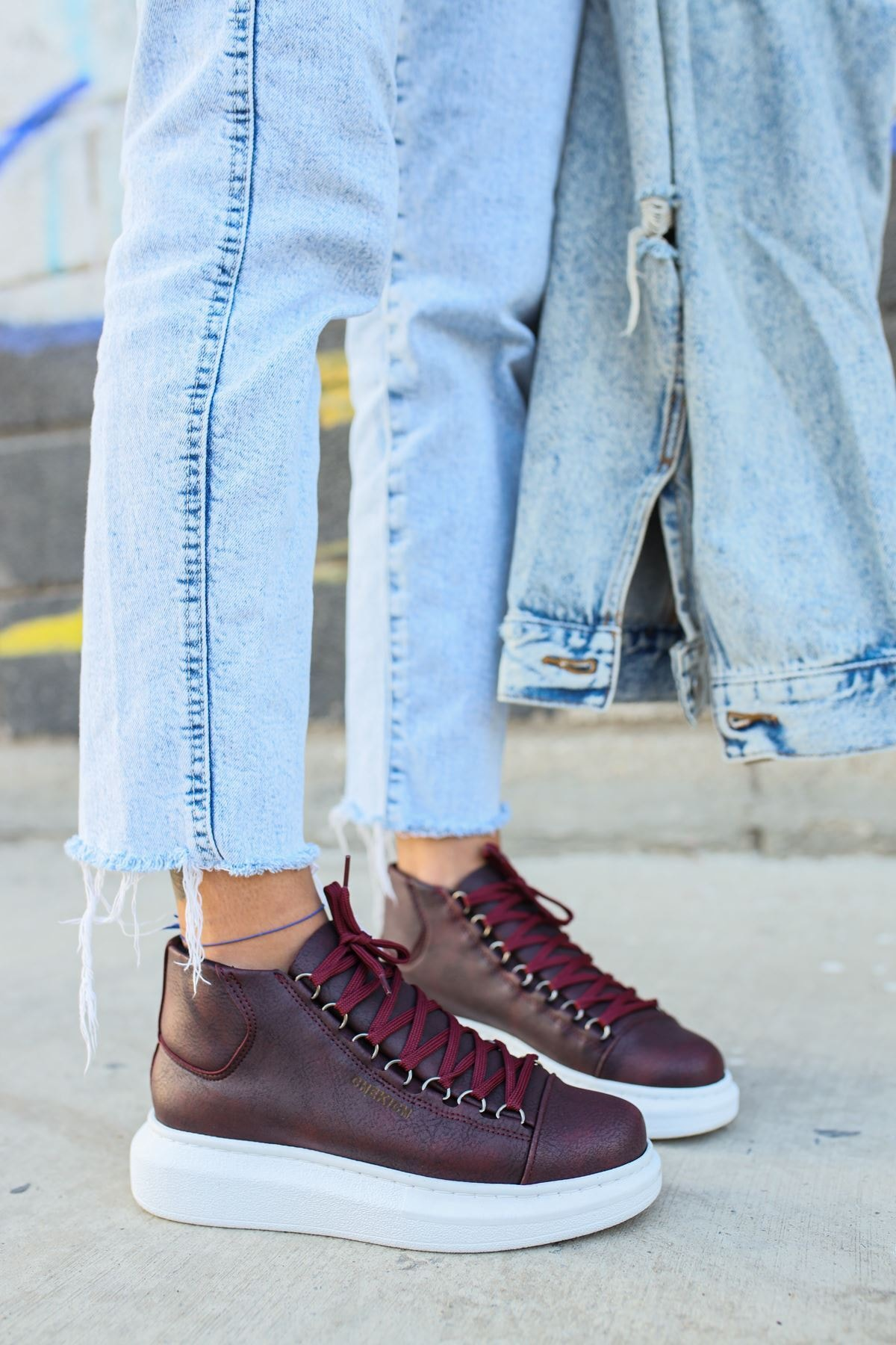 Chekich Ch258 Bt Kadın Bordo Sneaker 2