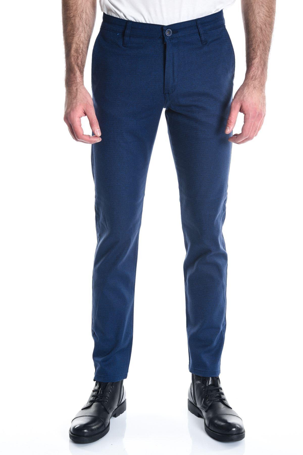 LTC Jeans Lacivert Desenli Armürlü Chino Erkek Pantolon 1