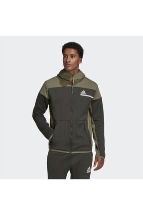 adidas Erkek Yeşil Z.n.e. Aeroready Full-zip Sweatshirt
