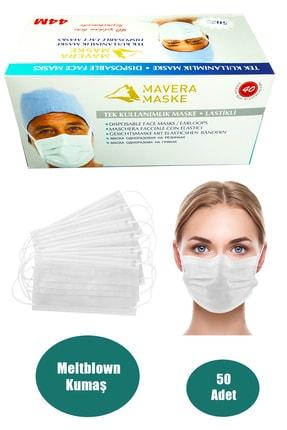 Zirve 3 Katlı Filtreli Burun Telli Cerrahi Maske 50'li Paket -yumuşak Elastik Kulaklı
