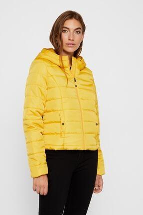 Vero Moda Kadın Sarı Kapüşonlu Mont 10214906 Vmsımone 10214906
