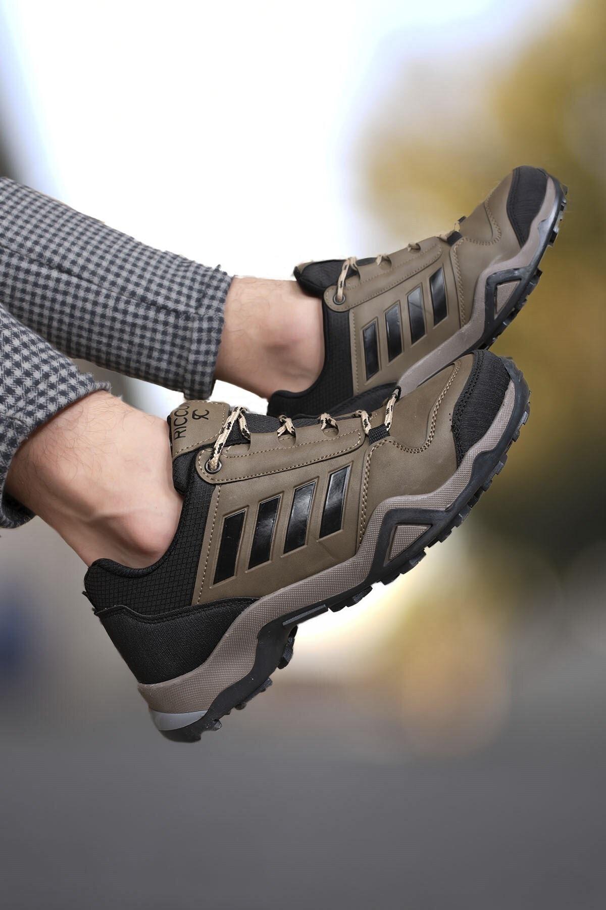 Riccon Vizon Siyah Erkek Trekking Ayakkabı 0012189 1