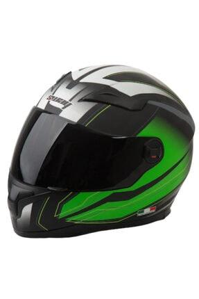 Sway Kask Sw-812 Full Face Yeşil Beyaz