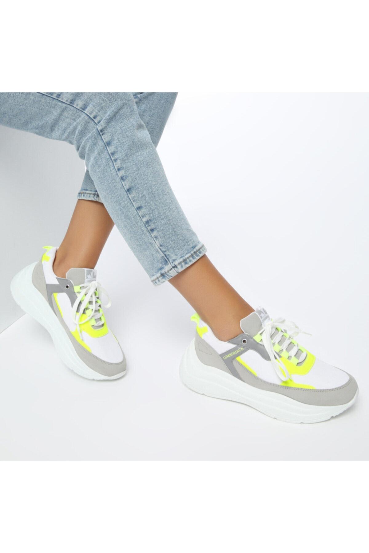 lumberjack LOVE Beyaz Kadın Kalın Taban Sneaker Spor Ayakkabı 100486545 1