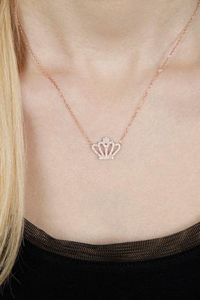 Afrodit Silver Kraliçe Tacı Tasarım Gümüş Kadın Kolye