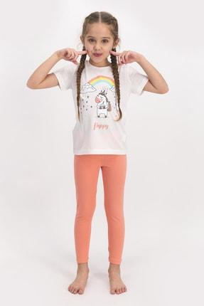 ROLY POLY Kız Çocuk Kısa Kollu Uzun Tayt Takımı Beyaz