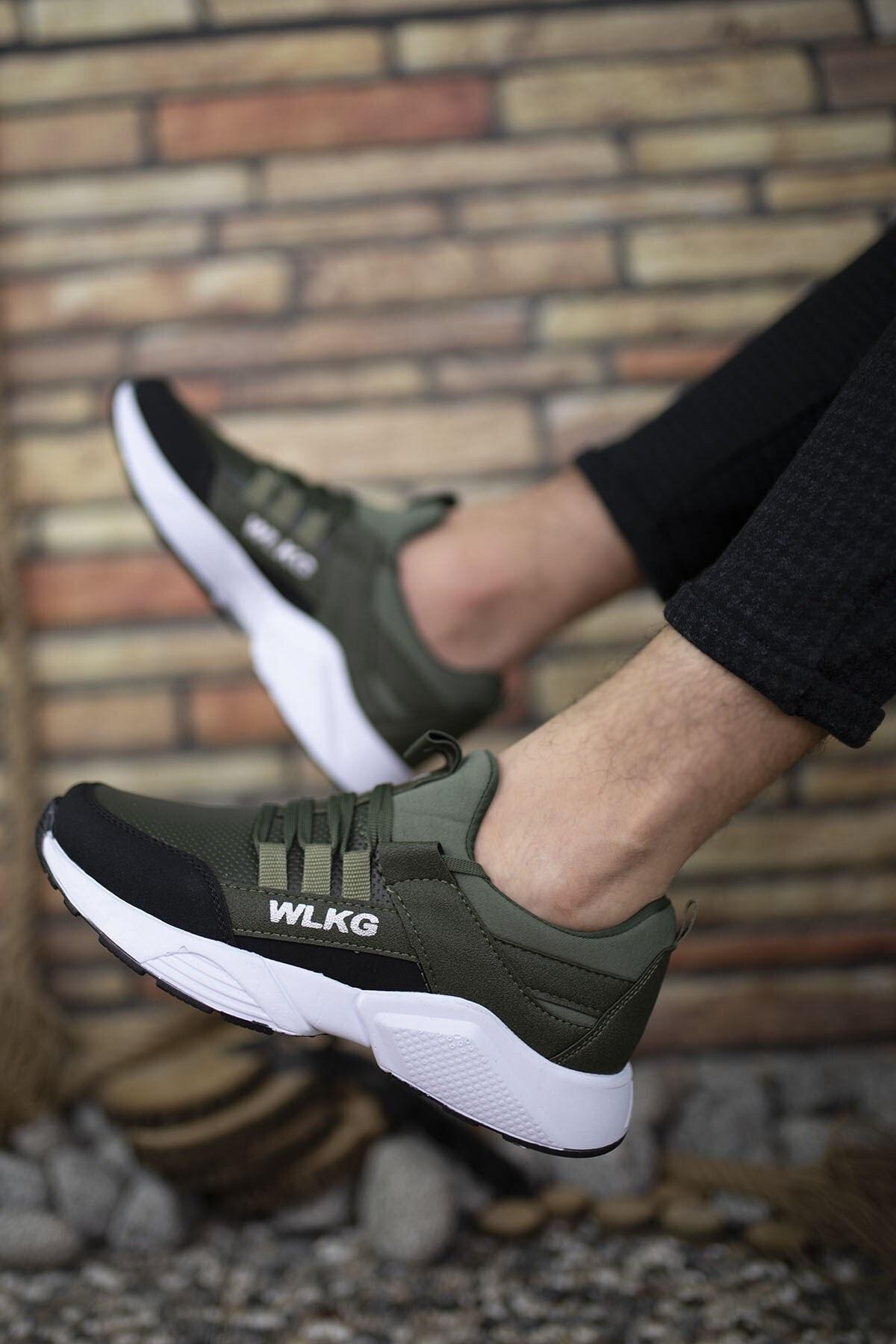 Riccon Haki Beyaz Cilt Unisex Sneaker 0012072 1