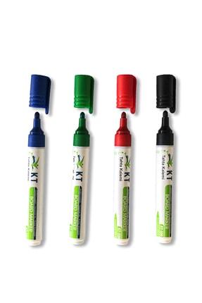 Tutunabilir Kağıt Beyaz Yazı Tahtası Kalemi 4'lü Set Doldurulabilir Kalem