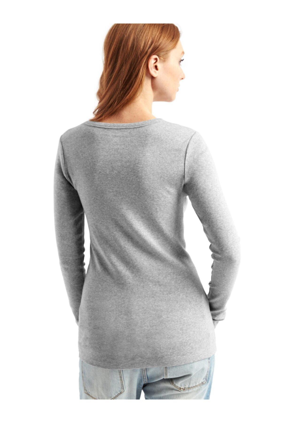 GAP Uzun Kollu Sıfır Yaka T-shirt 2