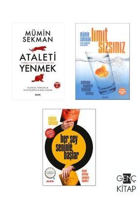 Alfa Yayınları Mümin Sekman 3 Kitap Kişisel Gelişim Seti Her Şey Senle Başlar-limit Sizsiniz-ataleti Yenmek