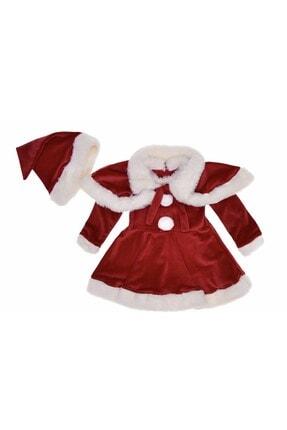 Buse&Eylül Bebe Pelerinli Kadife Kız Çocuk Yılbaşı Elbisesi