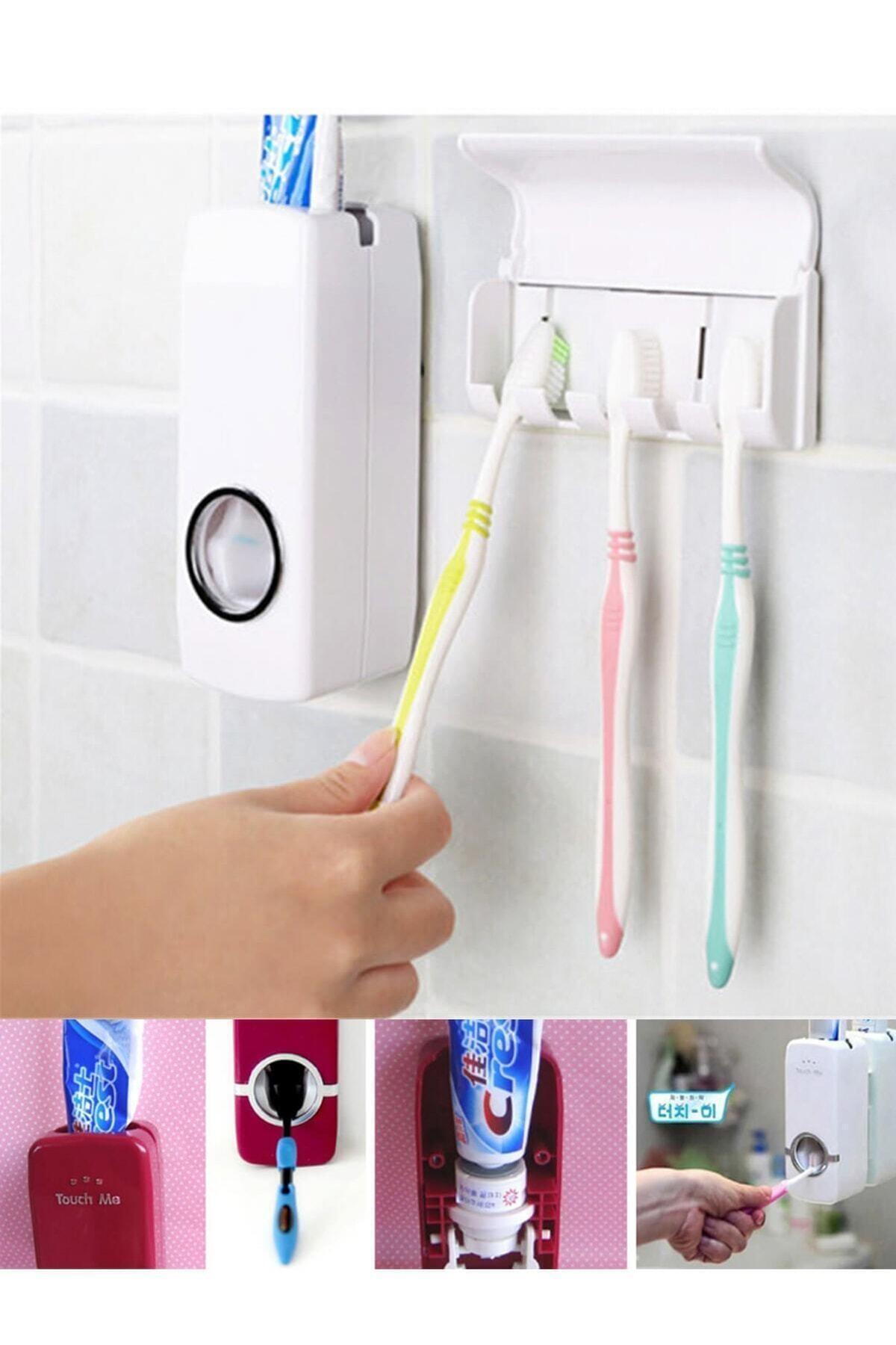 Arsimo Diş Macunu Sıkacağı Diş Fırçalığı 5 Adet Diş Fırçası Tutuculu 2