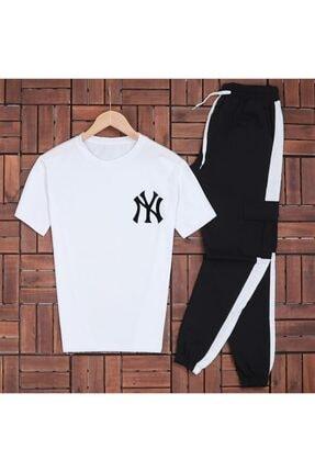 öz taha Ny Beyaz T-shirt Eş Kargo Beyaz Eşofman Takımı