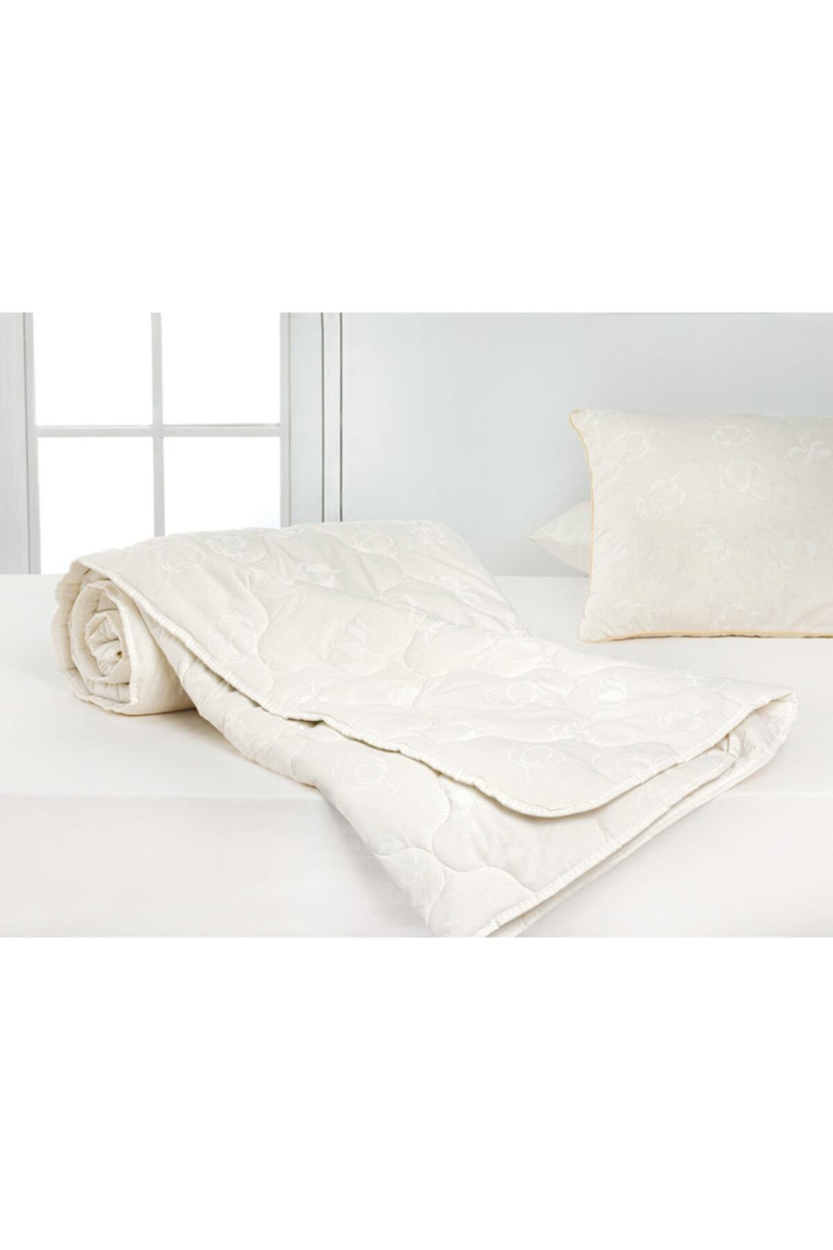 English Home Comfy Pamuk Çift Kişilik Yorgan 195X215 Cm Beyaz 2