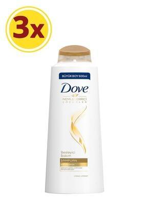 Dove Besleyici Bakım Saç Bakım Şampuanı 600 ml X3