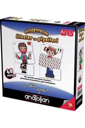 Anatolian Puzzle Birleştirelim Ülkeler Ve Giysileri 48 Parça 3 Yaş