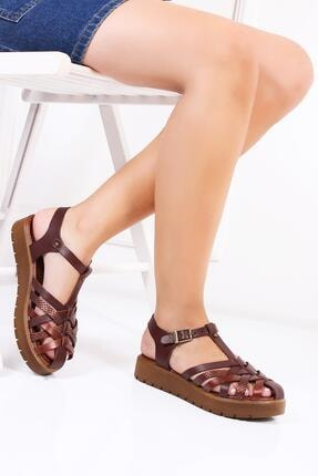 Deripabuc Hakiki Deri Twinkle-3 Kadın Deri Sandalet Dp-0097