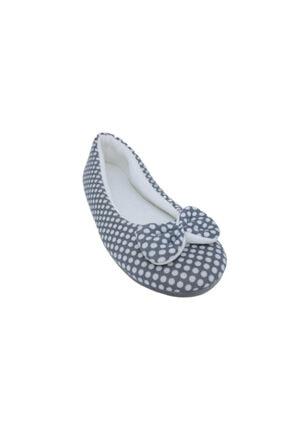 RedPlay Kadın Ev Babeti Ev Ayakkabısı Penye Gri Puanlı