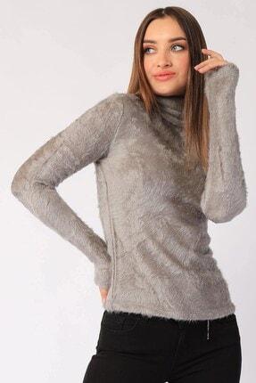 Twister Jeans Kadın Trıko Bt Peluş Boğazlı Bayan Triko 2200 Grı