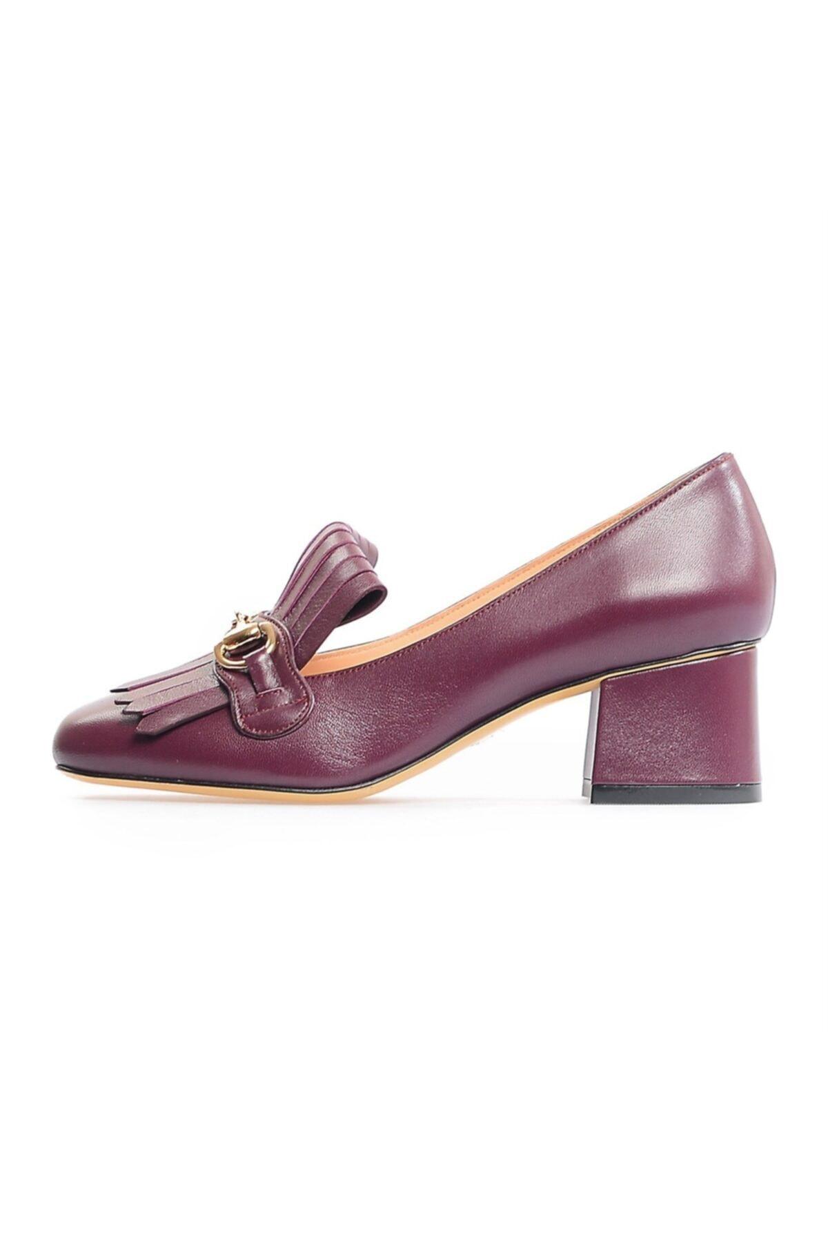 Flower Bordo Tokalı Kadın Ayakkabı 1
