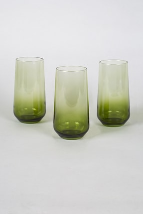 Rakle New Iconic 3'lü Meşrubat Bardağı Seti Yeşil 470 Cc