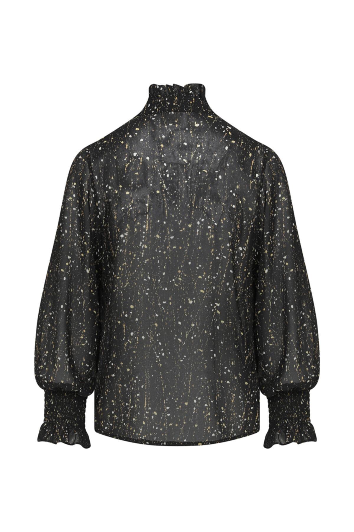W Collection Kolları Içten Elastikli Desenli Bluz 2