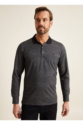 Bisse Regular Fit Desenli Polo Yaka Sweatshirt