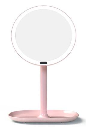 Gojoy Tech & Gifts Hareket Sensörlü Led Işıklı, 360 ° Döner, Dokunmatik Makyaj Ve Masa Aynası - Pembe