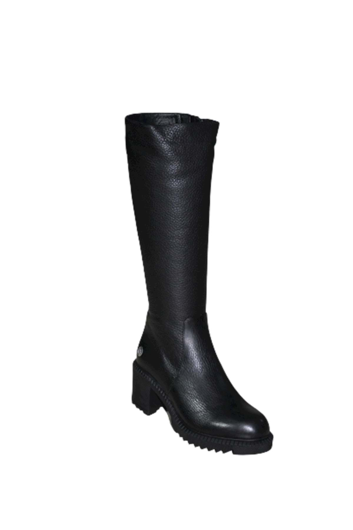Mammamia D19kc-2065 Hakiki Deri Kadın Çizme - - Siyah - 39 1
