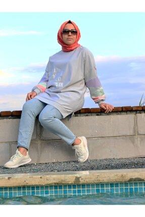 Loreen Kadın Neon Detaylı Sweatshirt Tunik