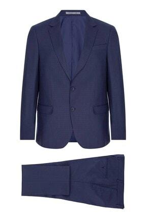 İgs Erkek Lacivert Barı / Geniş Kalıp Mono Yaka Takım Elbise