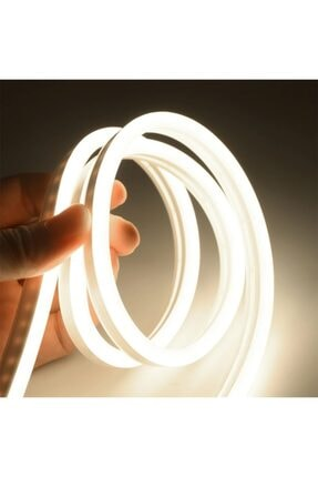 OOKAY Neon Esnek Şerit Led 4 Metre Gün Işığı + 220 Volt Fiş