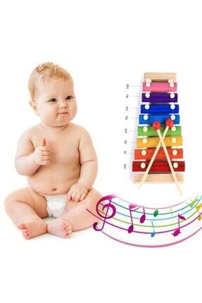 HAMAHA Ksilofon Kutulu Bebek Oyuncak Selefon Ahşap Müzik Aleti Oyuncak
