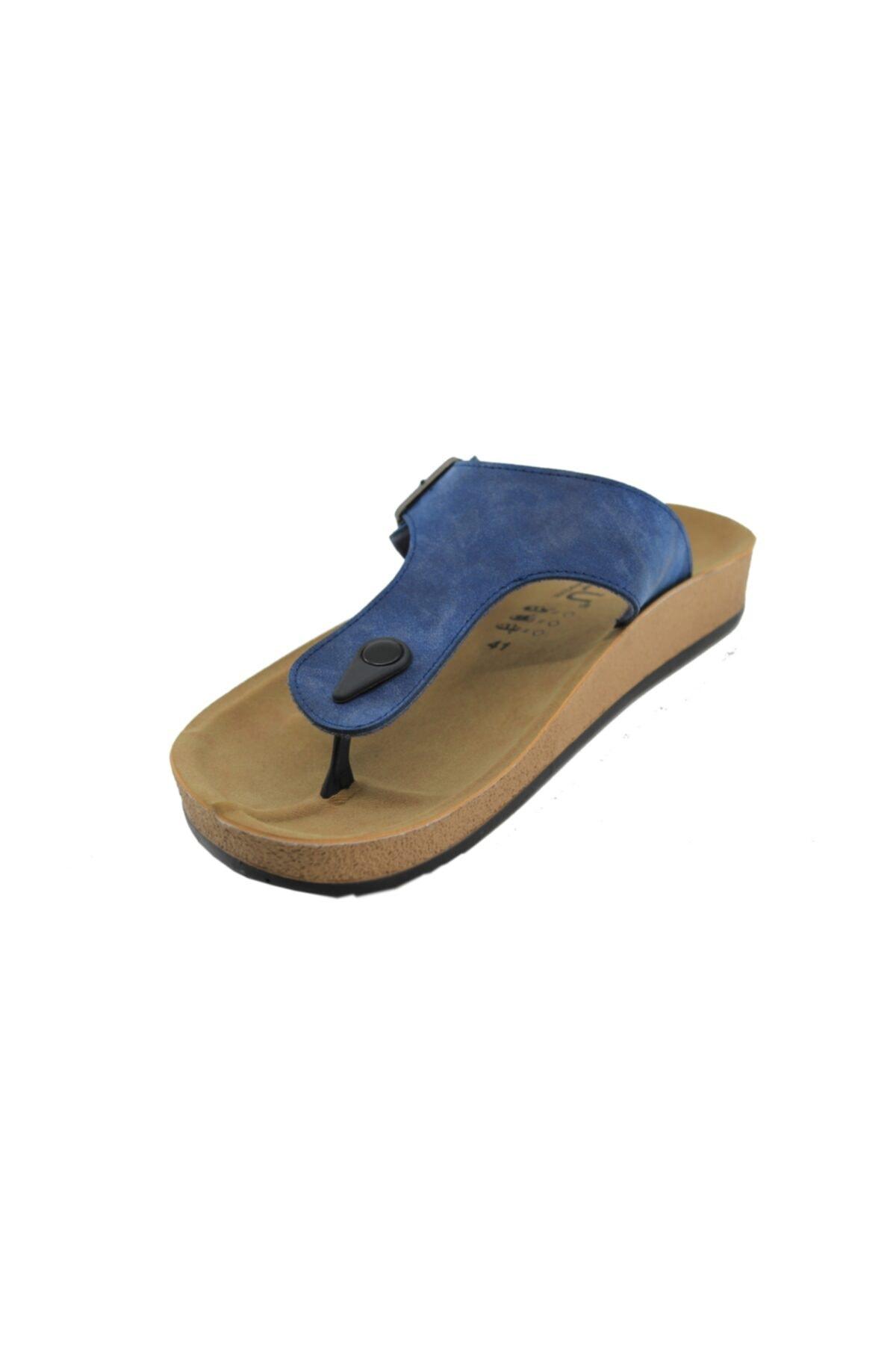 SOYLU Parmak Arası Erkek Terliği (Mavi) 2