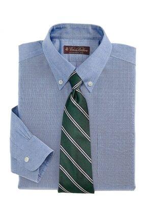 BROOKS BROTHERS Erkek Çocuk Açık Mavi Düğmeli Yaka Gömlek