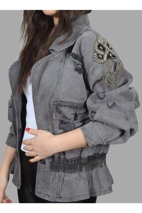 TREND Özel Tasarım Kadın Kot Ceket