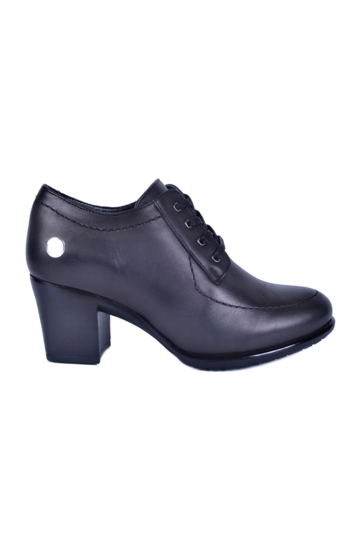 Mammamia Siyah Kadın Topuklu Deri Ayakkabı 740 1
