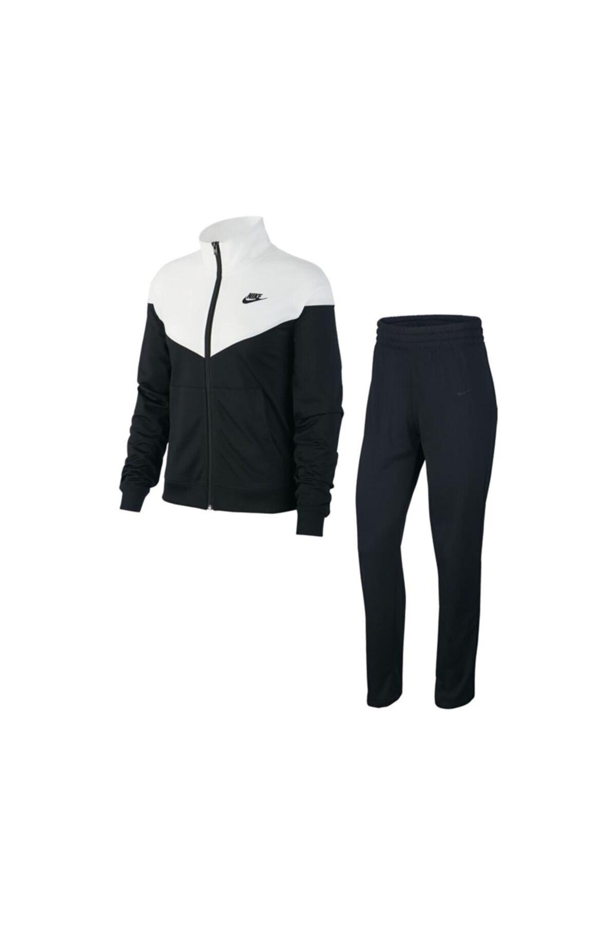 Nike W Nsw Trk Suıt Pk Siyah-beyaz 1