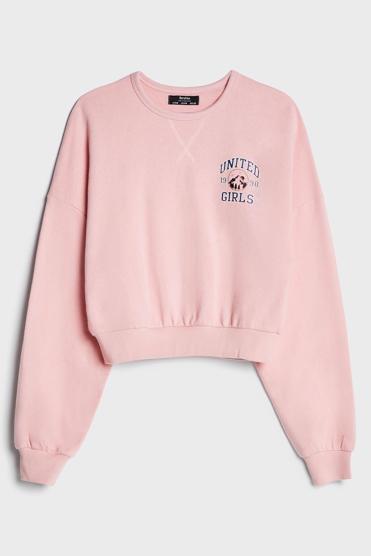 Bershka Baskılı Sweatshirt 2