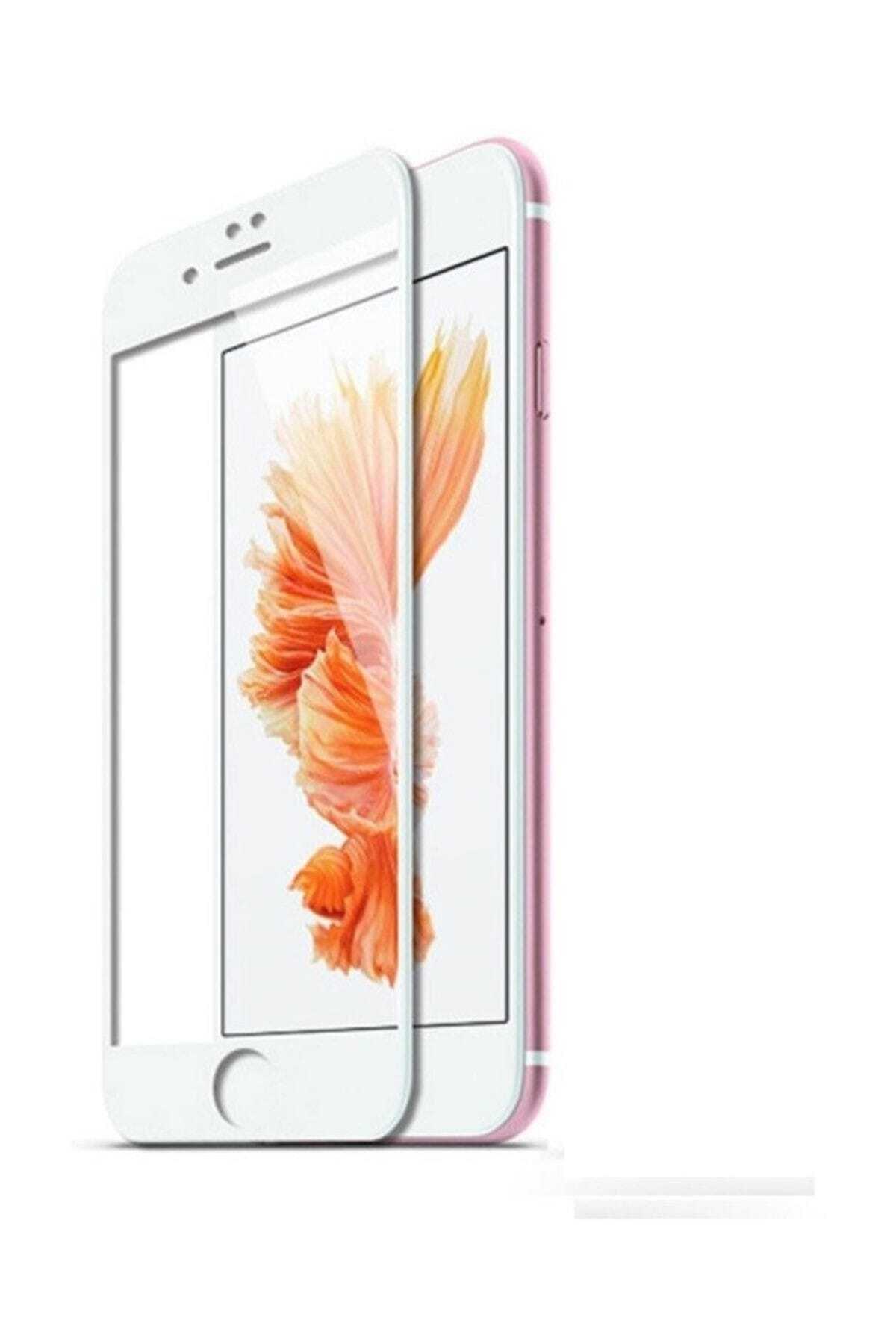 Kılıfreyonum Iphone 7 Plus Kavisli 5d Kırılmaz Cam Beyaz 1