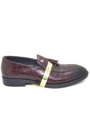 Pierre Cardin Bordo Hakiki Deri Termo P1033 Erkek Klasik Corcik Ayakkabı Günlük Casual