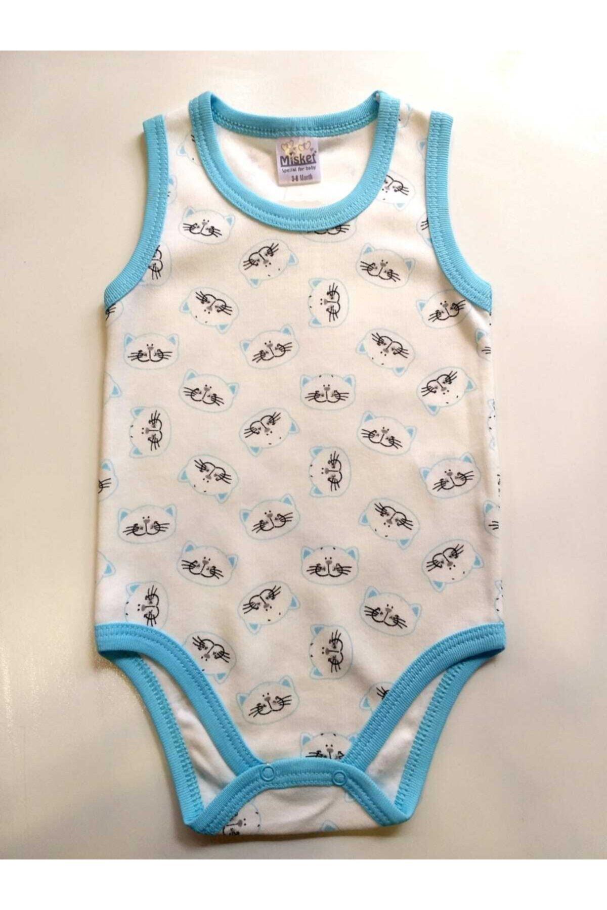Misket Erkek Bebek 2'li Baby Alttan Çıtçıtlı Zıbın Bady 2