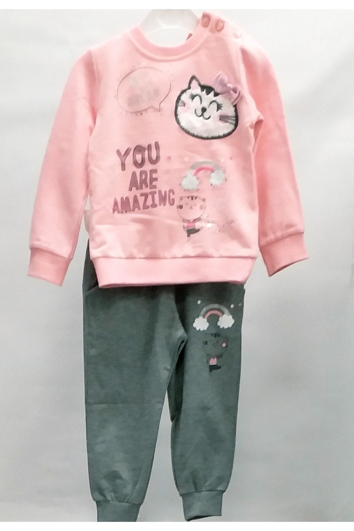 Breeze Kız Çocuk Pullu Eşofman Takımı 1
