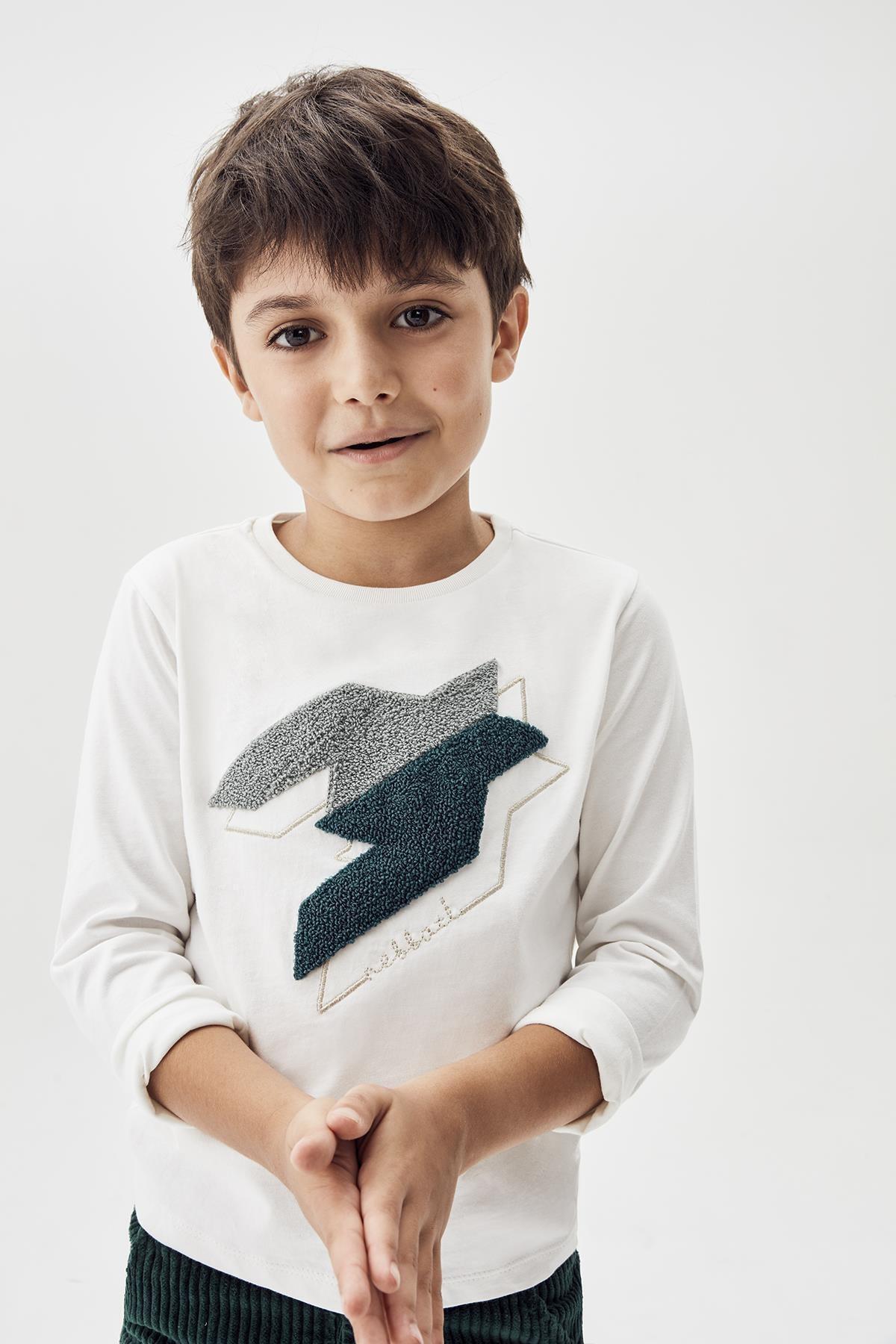 Nebbati Erkek Çocuk Beyaz T-shirt 20fw0nb3520 1