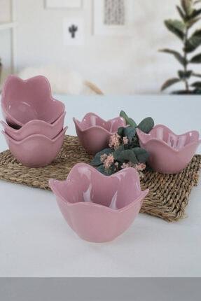 Keramika Violet Zambak Çerezlik / Sosluk 12 Cm 6 Adet
