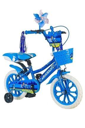 Tunca Police 15 Jant Çocuk Bisikleti 2-3-4-5-6 Yaş Çocuk Bisikleti Mavi