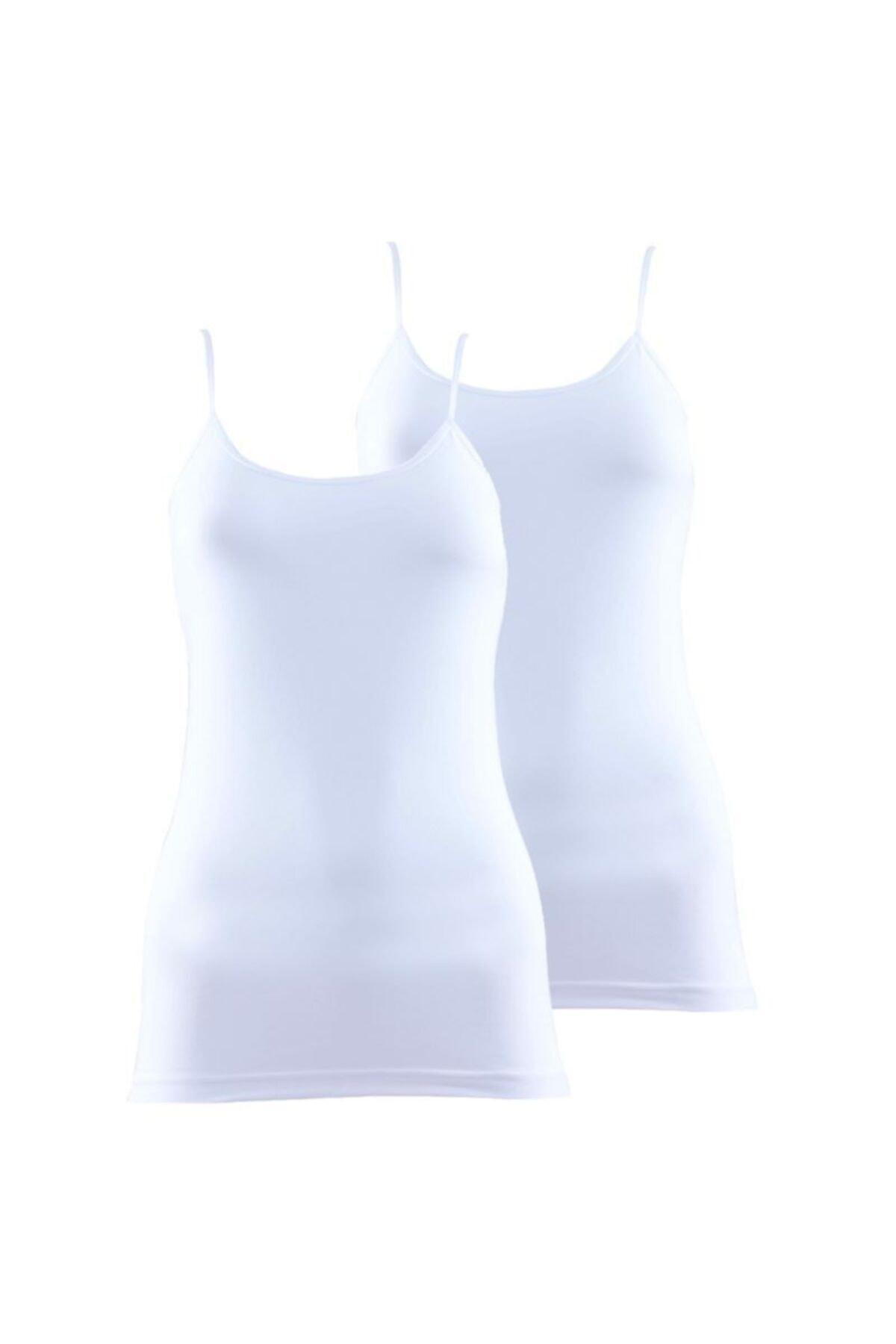Blackspade Kadın Ince Askılı Atlet 2'li Paket Essential 1591 - Beyaz 1