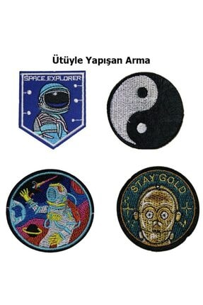 HALFART Nasa Uzay Serisi 1 Arma Yama Patch Sticker