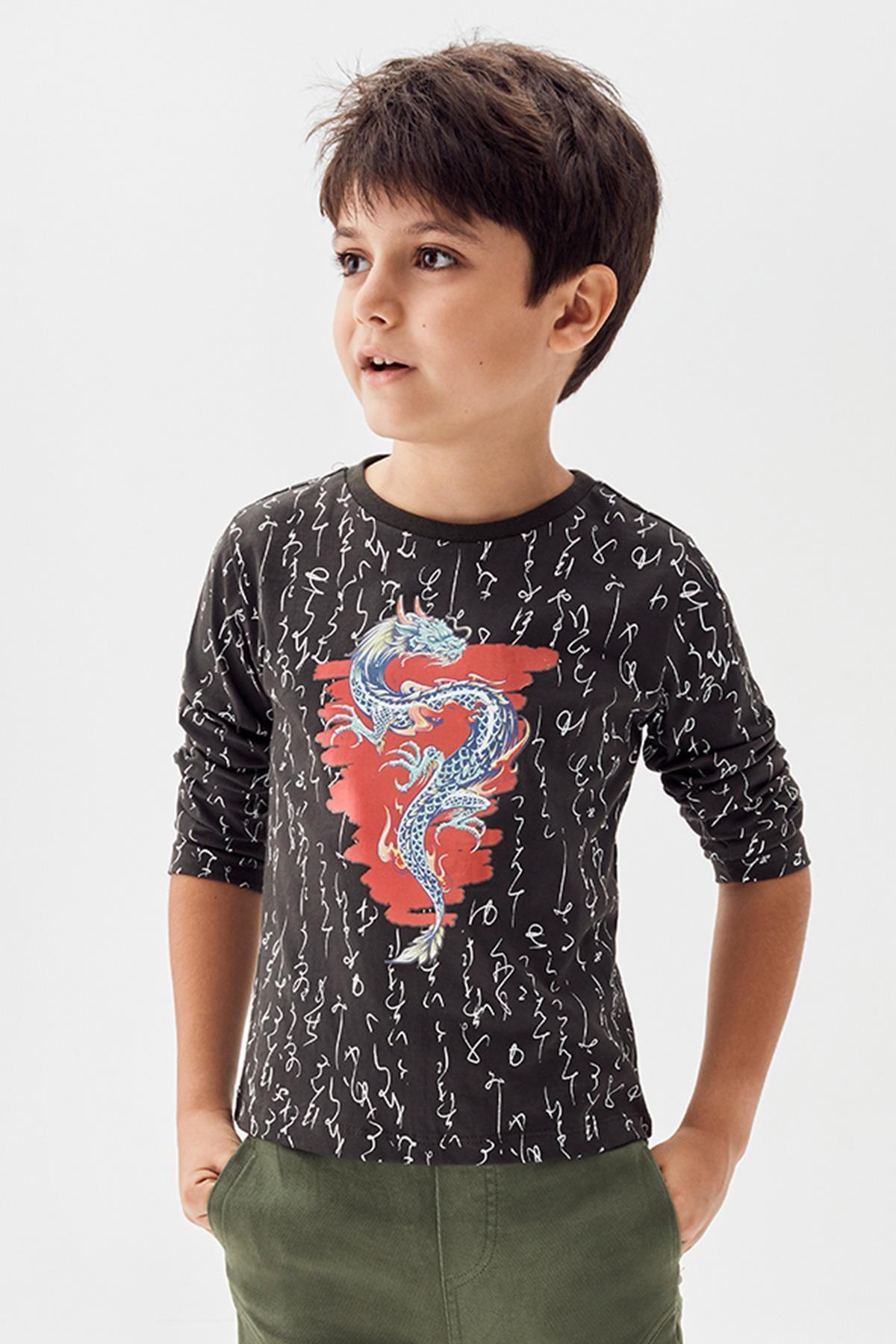 Nebbati Erkek Çocuk Haki T-shirt 20pfwnb3506 1